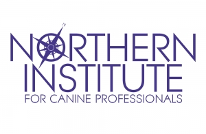 logo reading Northern Institute for Canine Professionals in purple text